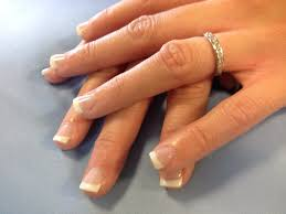 pink and white french lcn gel nails premium resin based european