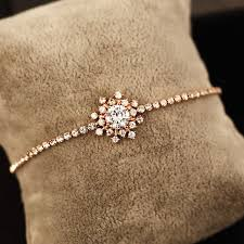 rose rhinestone bracelet images Sun rhinestone bracelet rose gold bangles 18k gold plated simple jpg