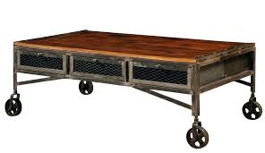wood coffee table with wheels industrial coffee table xpoffice info