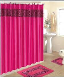 Feminine Shower Curtains Feminine Shower Curtain 3 Pink Zebra Bathroom Rugs With