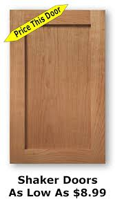 New Cabinet Doors For Kitchen Unfinished Shaker Cabinet Doors As Low As 8 99