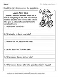 jan u0027s new bike a reading comprehension passage with questions