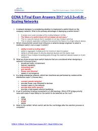 ccna 3 final exam answers 2017 v5 0 3 v6 0 u2013 scaling networks