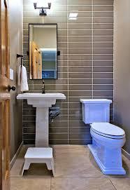 Brown Tile Backsplash by Half Bath Tile Bathroom Mediterranean With Bathroom Tile