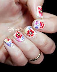 wondrously polished april nail art challenge flowers