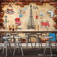 3d stereo custom european style bread cake shop food background