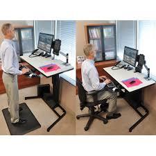 sit and stand desk platform ergotron 24 219 200 workfit d height adjustable standing desk