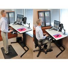 Ergotron Sit Stand Desk Ergotron 24 219 200 Workfit D Height Adjustable Standing Desk