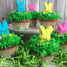 Easter Decorations With Peeps by Peeps Easter Bunny Cupcakes Kitchen Fun With My 3 Sons