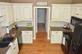Cream Kitchen Cabinets With Glaze How To Glaze Cabinets At Home With The Barkers