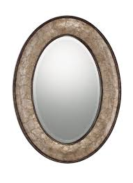 bathroom oval bathroom beveled mirror with polished nickel
