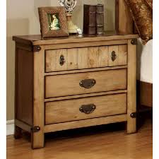 pioneer night stand top drawer w usb plug rustic oak finsih