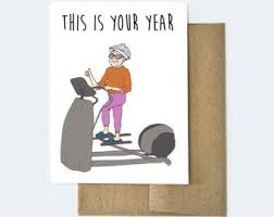 old age card etsy