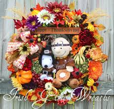 snoopy thanksgiving picture irish u0027s wreaths where the difference is in the details