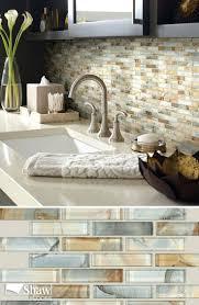 tiles glass tile backsplash with butcher block countertops sink