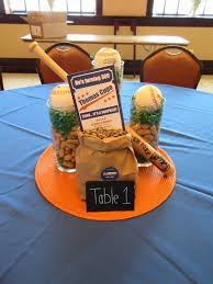 Centerpieces Birthday Tables Ideas by Dirty 30 Birthday Centerpiece Baseball Themed Party Mets Theme