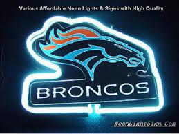 nfl denver broncos 3d neon sign bar light nfl