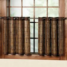 Home Decor Stores Columbus Ohio Bamboo Grommet Tier And Valance Window Treatment
