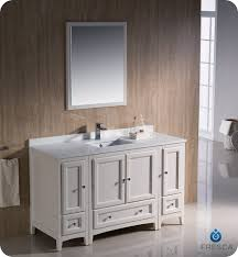 Bathroom Vanity With Side Cabinet Fresca Fvn20 123012aw Oxford 54 Traditional Bathroom Vanity With