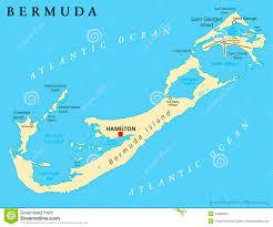 Map Of Bermuda Bermuda Great Sound Stock Photo Image 40225162