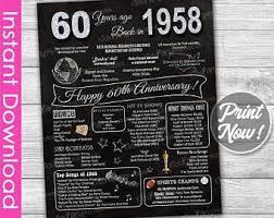 60th wedding anniversary plate 60th anniversary etsy