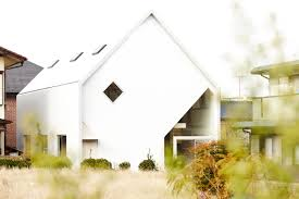 Gable Roof House Plans Open Plan House Design With Y Shaped Wooden Frames Structure