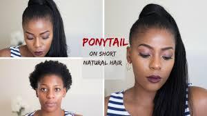 how to ponytail on short natural hair using kanekalon hair