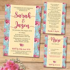 shabby chic wedding invitation set elisa by design
