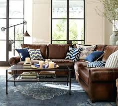 Brown Leather L Shaped Sofa Leather L Shaped Sofa Adrop Me