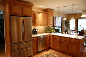 oak cabinets kitchen light brown oak kitchen cabinet combined big silver refrigerator