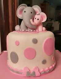 baby shower cake ideas for girl adorable blue elephant baby shower cake the addition to