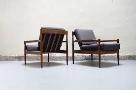 canape design danois paire de fauteuil gris scandinave teck vintage design annees 50 60