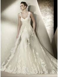 mermaid wedding dresses with sweetheart neckline and lace with