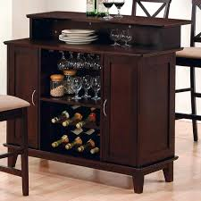 Wine Bar Table Coaster 100218 Bar Unit With Wine And Stemware Storage