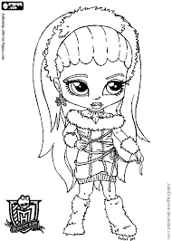 monster high coloring pages baby abbey bominable baby monster high coloring page getcoloringpages com