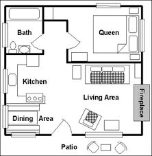 bedroom cottage floor plan shoise - One Bedroom Cottage Floor Plans