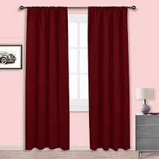 Rust Colored Kitchen Curtains Rust Color Living Room Curtains Amazon Com