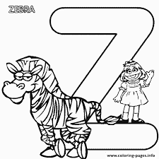 sesame street zebra alphabet s3595 coloring pages printable