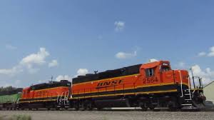 burlington northern sd60m trails on bnsf local with shave and a