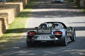 porsche 918 spyder wows goodwood newspress