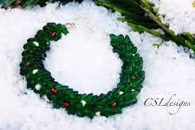 christmas wreath beaded kumihimo bracelet christmas youtube