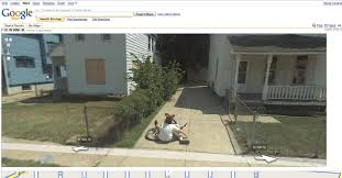 Map Street View Bike Crash Caught On Google Map Street View Lol