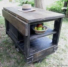 Kitchen Rolling Cabinet Kitchen Island Black Wooden Distressed Kitchen Island Fruit Bowl
