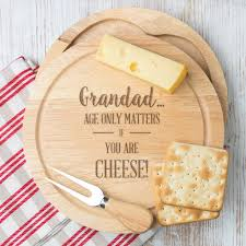 Funny Cutting Boards by Personalised Cheese Board For Grandad By Dust And Things