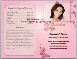 Sample Memorial Programs Funeral Brochure Template Funeral Stationary Templates Inspire