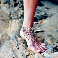 women barefoot sandals beach wedding foot jewelry vintage pearls