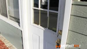 door house how to replace a door window frame youtube