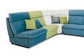 Teal Sectional Sofa David Ferrari Spritz Italian Modern Leather U0026 Fabric Sectional Sofa