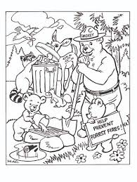 protect our homes smokey the bear coloring pages 30520