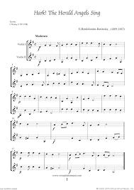 sheet and carols coll 2 for two violins sheet